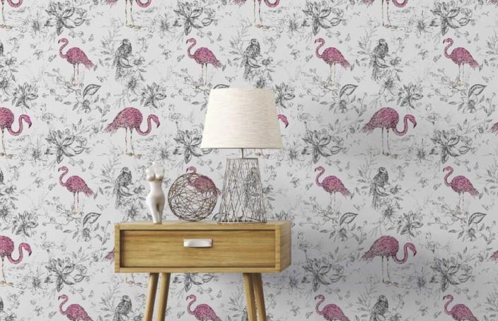 El papel pintado vintage refleja la personalidad de los habitantes de una casa